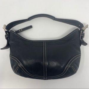 Coach Hobo Black Leather Bag Purse